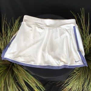 White Nike Skirt Shorts Lavender Trim L SZ 12